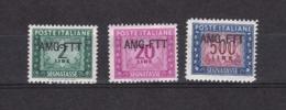 Triest - Zone A (AMG FTT) - Portomarken - 1949/54 - Michel Nr. 17 + 24 + 28 - 7. Trieste