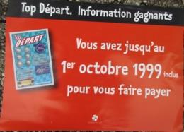 Française Des Jeux ,Top Départ ,affiche Information Gagants De 1999 , Environ 42 X 31 Cms - Billets De Loterie