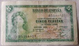 Billete 5 Pesetas. 1935. República Española. - 5 Pesetas