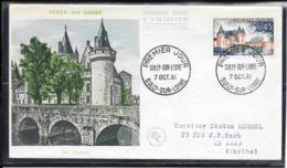 FDC 1961 - 1313 Série Touristique: SULLY SUR LOIRE - FDC