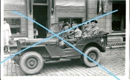 Photo ABL 1945 JEEP Major Balestrie JEEP Willy's Cavalerie Armée Belge Belgische Leger Militaria - Oorlog, Militair