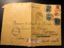 Luxemburg * 1926 Charlotte Offiziell Und Lochungen Briefvorderseite ! Selten ! - Service