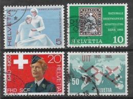 SVIZZERA 1965 SERIE DI PROPAGANDA UNIF.743-746 USATA VF - Usati