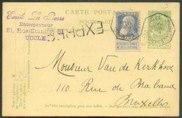 TRAM C.P. Expédiée De La Rue Stanley à UCCLE Et Déposée Dans La Boîte Du Tram Qui Se Dirige Du Sud De Bruxelles, Via La - 1893-1900 Barbas Cortas