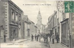 CPA Savenay La Rue De L'Eglise - Savenay