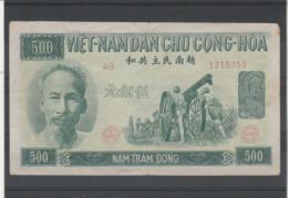 Viet Nam Billet 1951 De 500 Dong  AB 1215053 - Vietnam