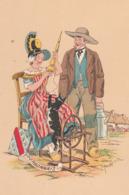 Barré & Dayer: Illustrateur E. Maudy. BOURBONNAIS. Blason, Couple, Elle Assise Filant (rouet). N° 1186 A - Illustrateurs & Photographes