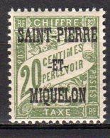 Saint-Pierre Et Miquelon Yvert N° 12 Taxe Neuf Lot 21-98 - Portomarken
