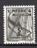 Saint-Pierre Et Miquelon Yvert N° 32 Taxe Neuf  Avec Charnière Morue Lot 21-109 - Portomarken