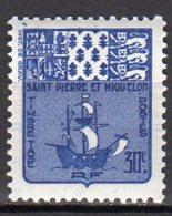 Saint-Pierre Et Miquelon Yvert N° 68 Taxe Neuf Avec  Charnière Armoiries Lot 21-120 - Portomarken