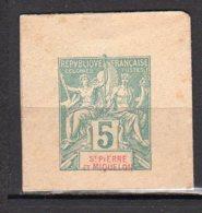 Saint-Pierre Et Miquelon Yvert N° 5E Entier-Postaux Lot 21-149 - Postal Stationery