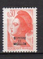 Saint-Pierre Et Miquelon Yvert N° 458 Neuf Liberté De Gandon Lot 21-155 - St.Pierre & Miquelon