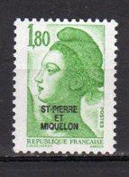 Saint-Pierre Et Miquelon Yvert N° 462 Neuf Liberté De Gandon Lot 21-159 - St.Pierre & Miquelon