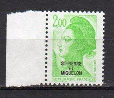 Saint-Pierre Et Miquelon Yvert N° 463 Neuf Liberté De Gandon Lot 21-160 - St.Pierre & Miquelon