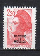 Saint-Pierre Et Miquelon Yvert N° 464 Neuf Liberté De Gandon Lot 21-161 - St.Pierre & Miquelon