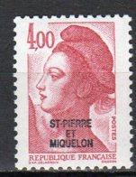 Saint-Pierre Et Miquelon Yvert N° 467 Neuf Liberté De Gandon Lot 21-165 - St.Pierre & Miquelon
