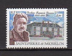 Saint-Pierre Et Miquelon Yvert N° 476 Neuf Docteur François Dunan Lot 21-174 - St.Pierre & Miquelon