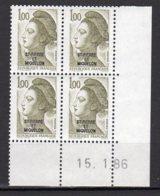 Saint-Pierre Et Miquelon Yvert N° 461 Neuf Coin Daté 15 1 86 Liberté De Gandon Lot 21-184 - St.Pierre & Miquelon
