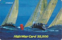 Carte Japon - BATEAU Voilier / COCA COLA - SAILING SHIP / NEW ZEALAND Rel Japan Prepaid Card SCHIFF Karte - HW 154 - Boats