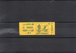 Carnet Fermé Type Marianne De Briat 2,50 Frs Rouge - 10 Timbres - 2715 C 5B Confection 6 - Cote Yvert 2018 : 600 € - Carnets
