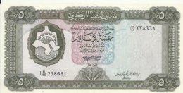LIBYE 5 DINARS ND1972 XF++ P 36 B - Libië