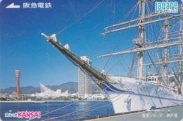 Carte Prépayée Japon - BATEAU Voilier / Pêche Hauturière KOBE - Fishing SHIP Japan Prepaid Lagare Card - SCHIFF - 155 - Bateaux
