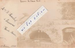 POISSONS - Le Vieux Pont En 1900    ( Carte-photo ) - Poissons