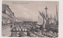 Messina, Prima Del Terremoto Del 1908, Corso V. Emanuele, Ediz. Brunner N.9215 - F.p.- Primi '1900 - Messina