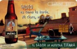 MEXICO. BEER - CERVEZA - BIER. CERVEZA INDIO. Indio Es Como La Tarde, Ni Clara, Ni Obscura. MX-TEL-P-1139A. (111) - México