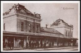 Croatia / Varazdin Railway Station / Reprint Of The Poscard From 1911 / Unused, Uncirculated - Stazioni Senza Treni