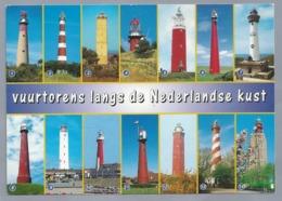 NL.- 14 VUURTORENS Langs De Nederlandse Kust. - Nederland