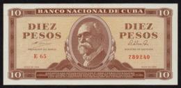 CUBA 10 PESOS 1964 PICK 96b UNC- - Kuba