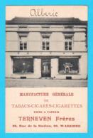 CPA WAREMME : TERNEVEN Frères à Waremme Manufacture Générale De Tabacs Cigares...  - Circulée - 2 Scans - Waremme