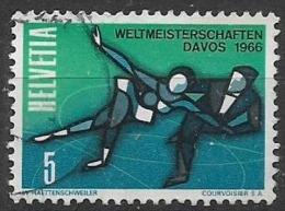 SVIZZERA 1965 CAMPIONATI MONDIALI DI PATTINAGGIO ARTISTICO UNIF.755 USATO VF - Usati