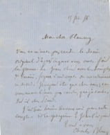 Charles Blanc Beaux-Arts Lettre Autographe Signée Au Peintre Leopold Flameng - Manuscritos