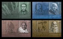 Moldova 2019 Mih. 1119/22 Louis Braille. Albert Einstein. Mahatma Gandhi. Leonardo Da Vinci (with Labels) MNH ** - Moldavië