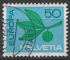 SVIZZERA 1965 EUROPA UNIF. 758 USATO VF - Usati
