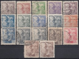 ESPAÑA 1940/1945 Nº 919/935 USADO REF.01 - 1931-Aujourd'hui: II. République - ....Juan Carlos I