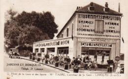 910Cr  91 Limours Hotel Café Restaurant De La Gare Et Des Sports - Limours