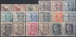 ESPAÑA 1949/1953 Nº 1044/1061 USADO REF.03 - 1931-Aujourd'hui: II. République - ....Juan Carlos I