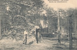 Montargis (45 - Loiret) La Forêt Hutte De Charbonnier - Attelage Scie - édit CFM - Montargis