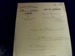 Facture Lettre A Entête   Année 1929  épicerie Parisienne Maurice Gillot à Lure Haute Saône Commande De Choucroute - Food
