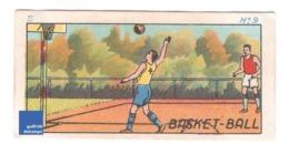 Image Didactique Chocolat Jacques Années 1940 Sport Basket-Ball Shot Cycling A30-31 - Oude Documenten
