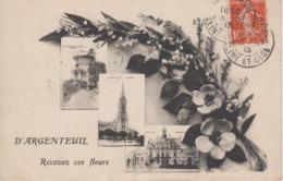 """CPA Argenteuil - """"D'Argenteuil, Recevez Ces Fleurs """" Avec 3 Vues - Argenteuil"""