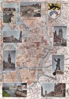 59  DUNKERQUE.  CARTE MULTI VUES AUTOUR DU PLAN BLAY DE LA VILLE. ANNEE 1963+ TEXTE - Dunkerque