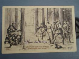 Cpa La Nation Glorieuse 1914-1915 En Embuscade Dans La Forêt. Guerre Dans Les Vosges. St-Loup 12/1915 - Casernes