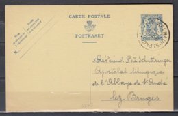Postkaart Van Walhain St Paul Naar Bruges - 1935-1949 Sellos Pequeños Del Estado