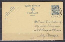 Postkaart Van Walhain St Paul Naar Bruges - 1935-1949 Petit Sceau De L'Etat