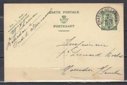 Postkaart Van Chastre-Villeroux Naar Moustier - 1935-1949 Kleines Staatssiegel