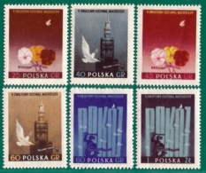 Polonia. Poland. 1955. Mi 922A / 927A.  Festival Mundial De La Juventud. Varsovia - 1944-.... Repubblica